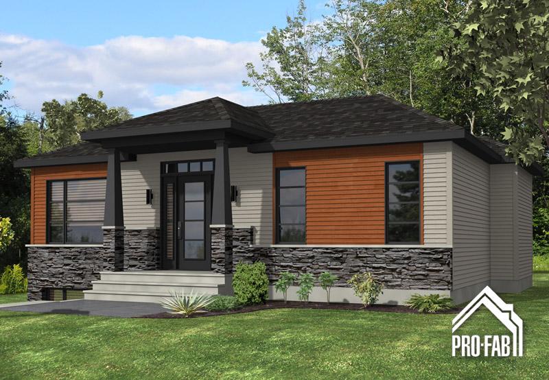 Pro fab constructeur de maisons modulaires usin es pr fabriqu es mod le kona for Maison profab prix
