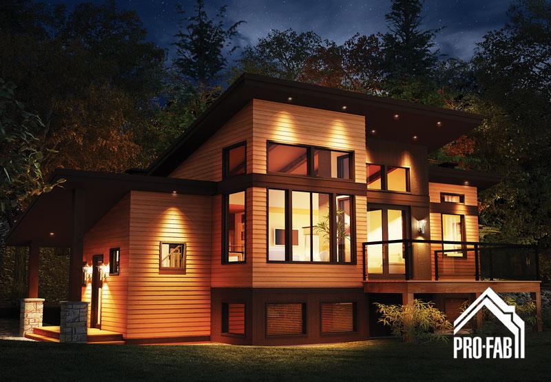 Pro fab constructeur de maisons modulaires usin es pr fabriqu es mod le - Maison modulaire a vendre ...