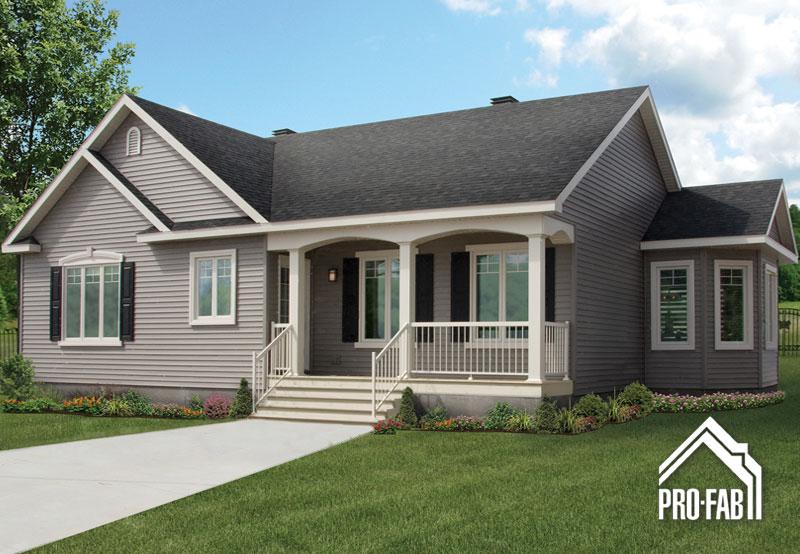 Pro fab constructeur de maisons modulaires usin es pr fabriqu es mod le turquoise for Maison profab prix