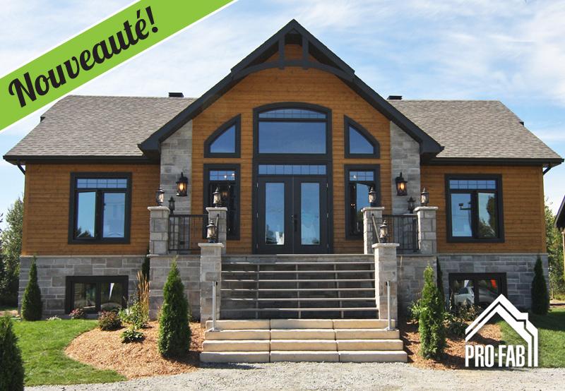 Pro fab constructeur de maisons modulaires usin es pr fabriqu es mod le - Toit cathedrale maison ...